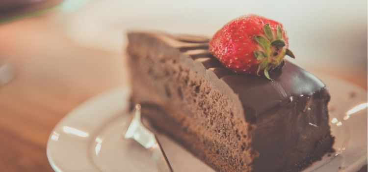 cake met stevia poeder